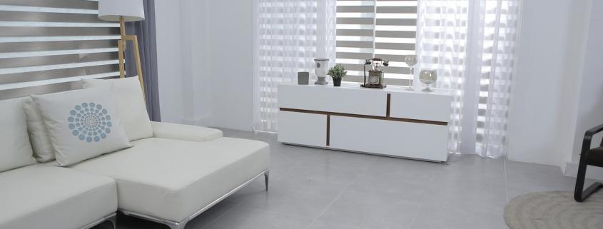 Design woonkamer met lounge bankstel