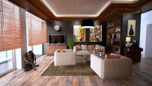 Landelijke woonkamer inrichting